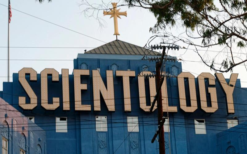 The headquarters of the Church of Scientology in Los Angeles - AP