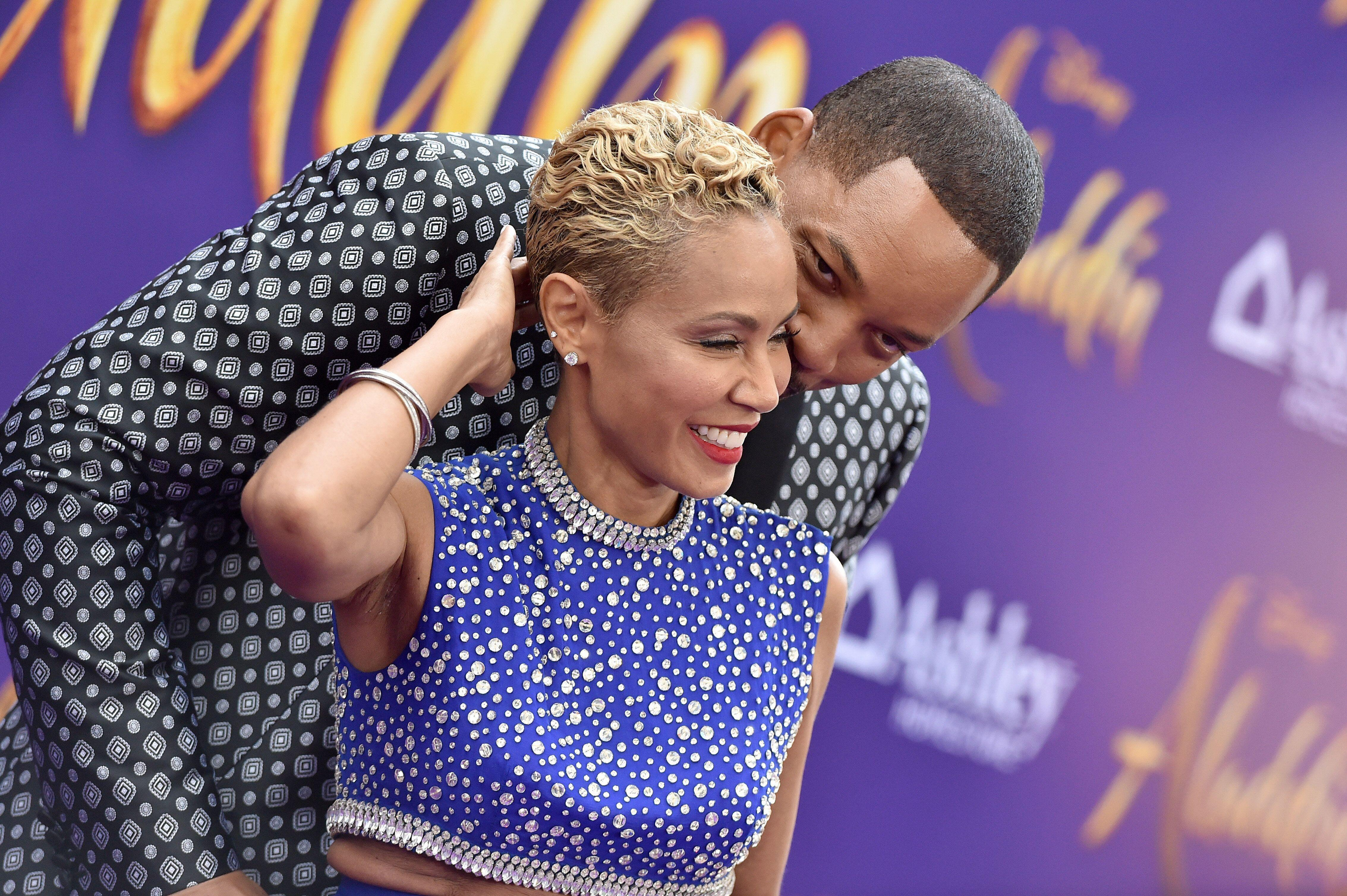 "LOS ANGELES, CALIFORNIA - MAY 21: Jada Pinkett Smith and Will Smith attend the premiere of Disney's ""Aladdin"" on May 21, 2019 in Los Angeles, California. (Photo by Axelle/Bauer-Griffin/FilmMagic)"