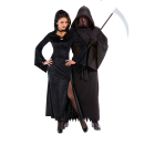 """<p>There are few things scarier than the Grim Reaper, but add in an ominous enchantress with mysterious powers, and you have one of the scariest couples costumes. </p><p><a class=""""link rapid-noclick-resp"""" href=""""https://www.partycity.com/adult-enchantress-costume-P446890.html"""" rel=""""nofollow noopener"""" target=""""_blank"""" data-ylk=""""slk:SHOP WOMEN'S COSTUME"""">SHOP WOMEN'S COSTUME</a></p><p><a class=""""link rapid-noclick-resp"""" href=""""https://www.partycity.com/adult-phantom-of-darkness-costume-447333.html"""" rel=""""nofollow noopener"""" target=""""_blank"""" data-ylk=""""slk:SHOP MEN'S COSTUME"""">SHOP MEN'S COSTUME</a> </p>"""