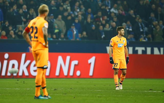 Soccer Football - Bundesliga - Schalke 04 vs TSG 1899 Hoffenheim - Veltins-Arena, Gelsenkirchen, Germany - February 17, 2018 Hoffenheim's Andrej Kramaric looks dejected after the match REUTERS/Leon Kuegeler DFL RULES TO LIMIT THE ONLINE USAGE DURING MATCH TIME TO 15 PICTURES PER GAME. IMAGE SEQUENCES TO SIMULATE VIDEO IS NOT ALLOWED AT ANY TIME. FOR FURTHER QUERIES PLEASE CONTACT DFL DIRECTLY AT + 49 69 650050