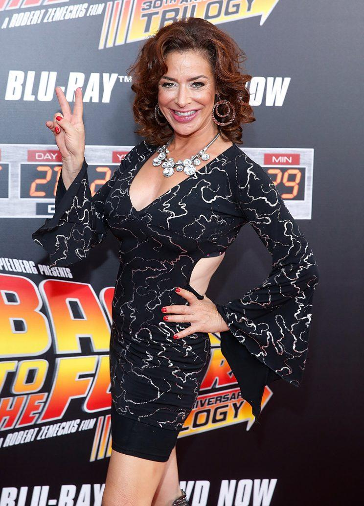 Claudia Wells at a 'Back to the Future' anniversary screening in October 2015. (Photo: John Lamparski/WireImage)