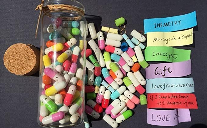 <p>Make it personal with the <span>Infmetry Capsule Letters Message in a Bottle (Mixed Color 90pcs)</span> ($14). Show your loved one why you appreciate them in 90 ways!</p>
