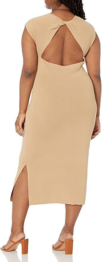 """<h2>The Drop Women's Laila Power Shoulder Twist</h2><br><strong>Best Plus-Size Sweater Dress With Cutouts </strong><br><em>Size Range: XXS-3XL</em><br><br> Amazon's fashion-forward line The Drop is filled with closet staples that are far from boring. New fall must-haves include this sweater dress with a subtle slit and a killer cut-out moment. One happy reviewer even bought both colors, writing that it """"fits like a dream, flattering and good quality."""" <br><br><em>Shop<strong><a href=""""https://go.skimresources.com/?id=30283X879131&isjs=1&jv=15.2.0-stackpath&sref=https%3A%2F%2Fwww.refinery29.com%2Fen-us%2Fplus-size-sweater-dresses%23slide-1&url=https%3A%2F%2Famzn.to%2F3DOaxGC&xguid=01ERGDHBXNJ489J9KBAH8RZJH0&xs=1&xtz=240&xuuid=13a7fbd9948972339c551d8b8235af4b&xjsf=other_click__contextmenu%20%5B2%5D"""" rel=""""nofollow noopener"""" target=""""_blank"""" data-ylk=""""slk:Amazon"""" class=""""link rapid-noclick-resp""""> Amazon</a></strong></em><br><br><strong>The Drop</strong> The Drop Women's Laila Power Shoulder Twist-Back Midi Sweater Dress, $, available at <a href=""""https://amzn.to/3DOaxGC"""" rel=""""nofollow noopener"""" target=""""_blank"""" data-ylk=""""slk:Amazon"""" class=""""link rapid-noclick-resp"""">Amazon</a>"""