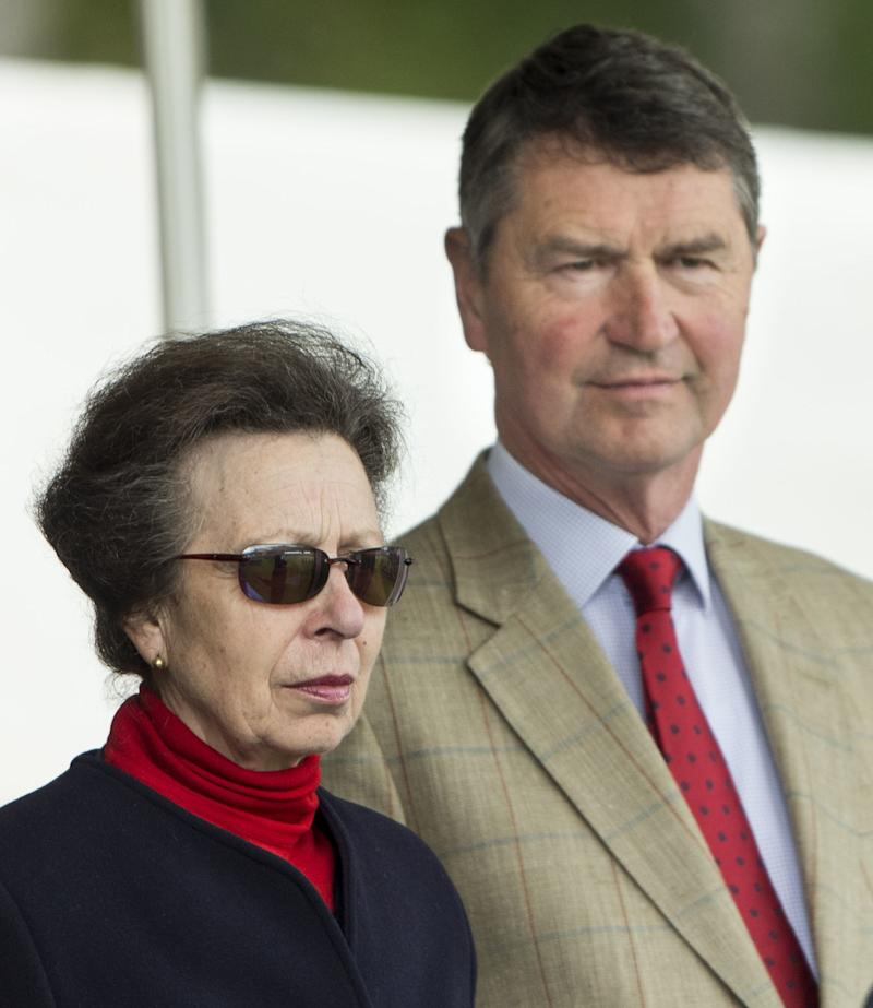 Princess Anne and her second husband Timothy Laurence at the 2016 Braemar Highland Gathering in Scotland, September 2016.