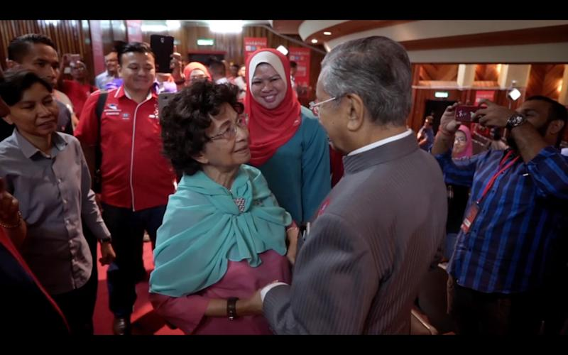 The film features rare intimate moments of Tun Dr Mahathir Mohamad and his wife Tun Dr Siti Hasmah Mohamad Ali. — Picture courtesy of 'M for Malaysia'
