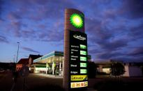 FILE PHOTO: A general view shows BP petrol station in Kloten