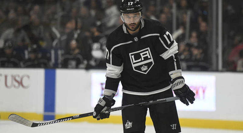 Los Angeles Kings left wing Ilya Kovalchuk, of Russia, during an NHL hockey game against the Vegas Golden Knights Sunday, Oct. 13, 2019, in Los Angeles. (AP Photo/Michael Owen Baker)