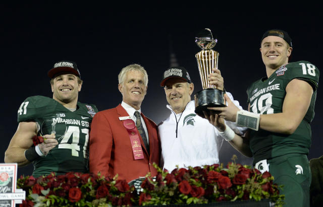 Michigan State's Mark Dantonio claims the Spartans are 'one of the hunted'