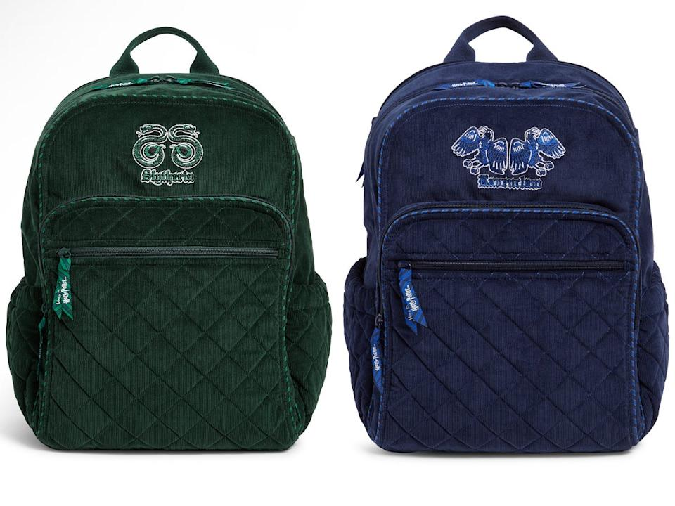 slyhterin and ravenclaw backpacks