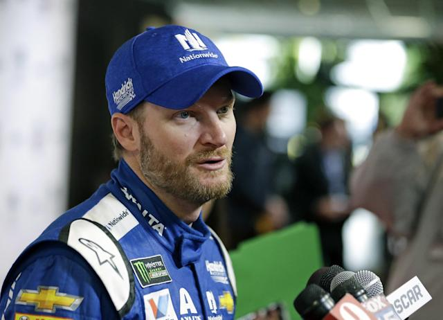 Dale Earnhardt Jr. is set to start second in the Daytona 500. (AP)