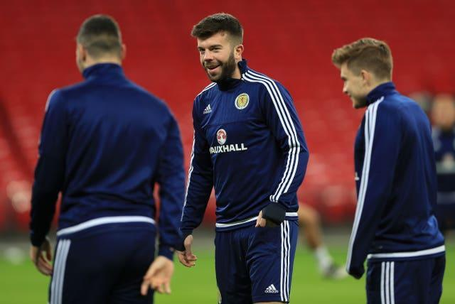 Grant Hanley was one of Scotland's best players against the Czech Republic