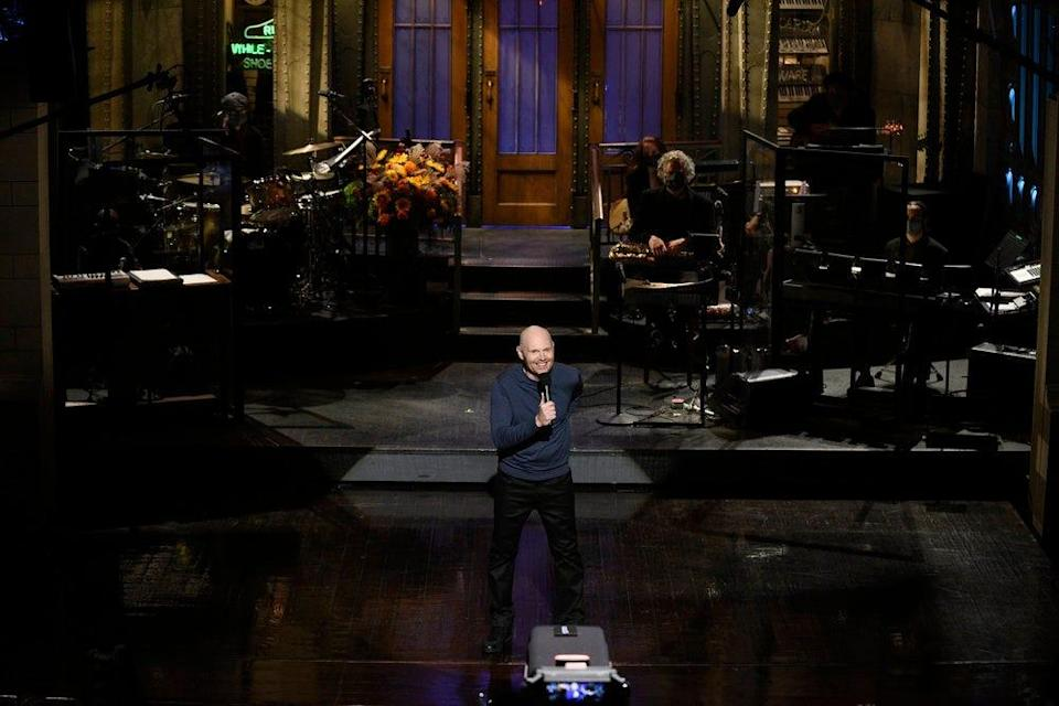 """SNL"" host Bill Burr during the monologue on Saturday, October 10, 2020."