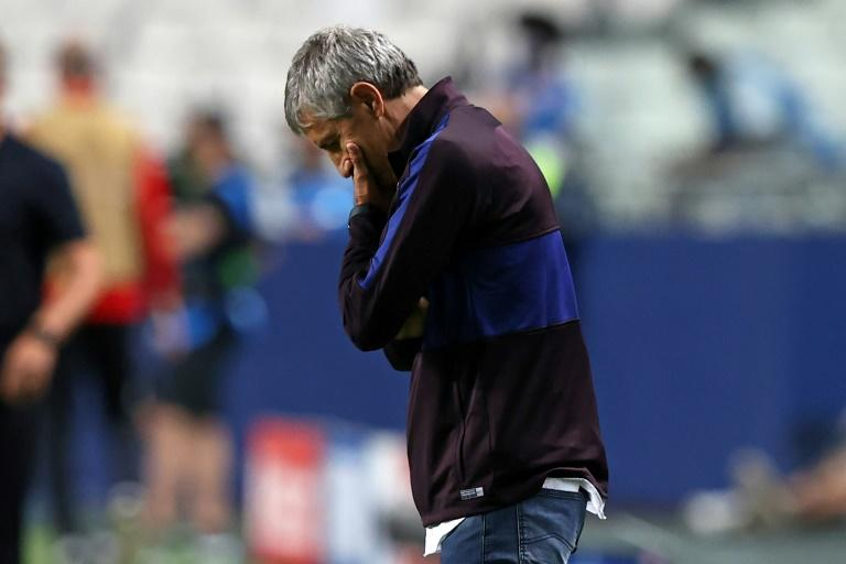 Barcelona coach Setien says 'too soon' to discuss future after horror defeat