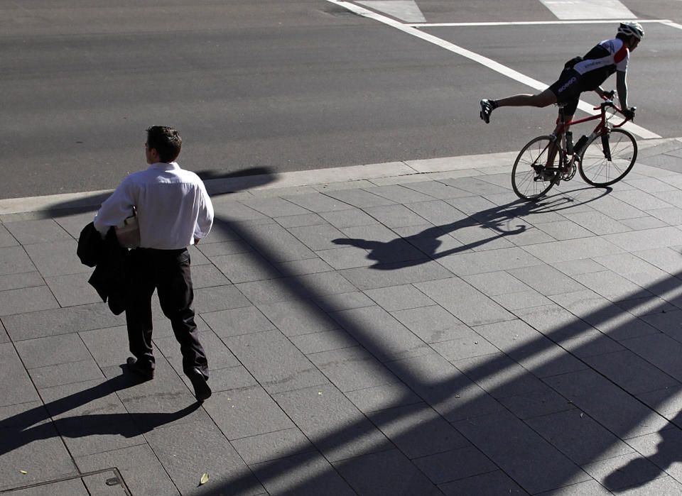 Victoria Walks is urging state and territory governments to reconsider laws allowing teens and adults to cycle on footpaths. Source: Reuters