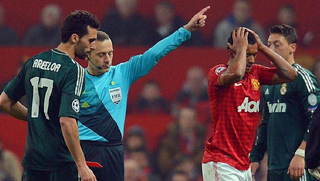 <p>Legendary Manchester United manager Sir Alex Ferguson was so incensed with the decision of Turkish referee Cuneyt Cakir to harshly show a red card to Nani during a 2013 Last 16 clash with Real Madrid that he refused to attend the post-match conference.</p> <br><p>Nani had caught Alvaro Arbeloa with a high boot, although his eyes appeared to be on the ball and it didn't seem as though he had even seen the Real defender coming. There was no sympathy from the official, though, and the winger's dismissal left United to play nearly all of the second half with 10 men.</p> <br><p>Ferguson's side were leading 2-1 on aggregate at the time and looked on course to progress to the next round, but Real made the extra player count and quick-fire goals from Luka Modric and Cristiano Ronaldo turned the tie irreversibly in the Spaniards' favour.</p>