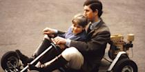 <p>Taking his younger brother, Prince Edward, on a go-kart ride on the grounds of Windsor Castle. </p>
