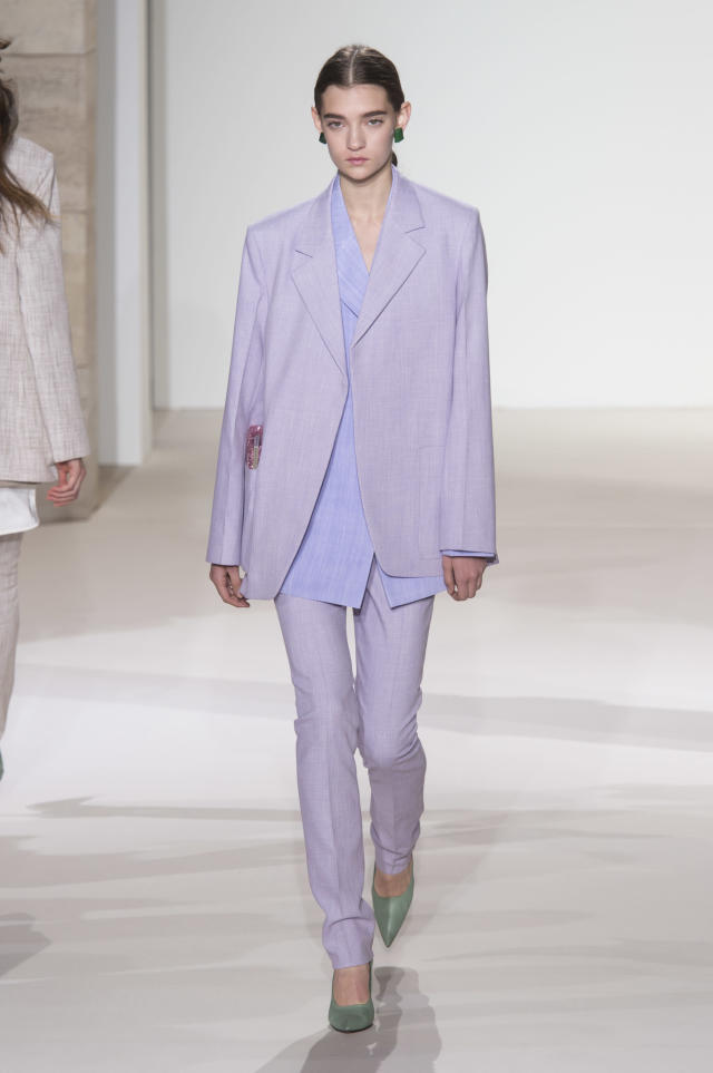 <p><i>A model in pastel purple. (Photo: ImaxTree) </i></p>