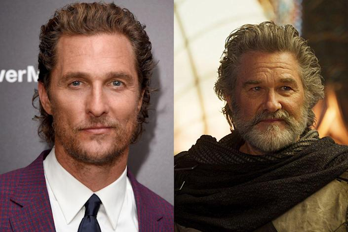 """<p>In an interview with <em>Playboy</em>, McConaughey claimed to have turned down a big role in the <em>Guardians of the Galaxy</em> film in favor of the Stephen King adaptation <em>The Dark Tower</em>. """"I like <em>Guardians of the Galaxy</em>, but what I saw was, 'It's successful, and now we've got room to make a colorful part for another big-name actor.' I'd feel like an amendment."""" McConaughey didn't reveal what role this was — <a href=""""http://www.vulture.com/2017/12/shia-labeouf-in-call-me-by-your-name-and-more-crazy-castings.html"""" rel=""""nofollow noopener"""" target=""""_blank"""" data-ylk=""""slk:Vulture speculated"""" class=""""link rapid-noclick-resp"""">Vulture speculated</a> it could have been a character cut from an early version — but reports that it was a villain indicate it may have been Kurt Russell's Ego.</p>"""