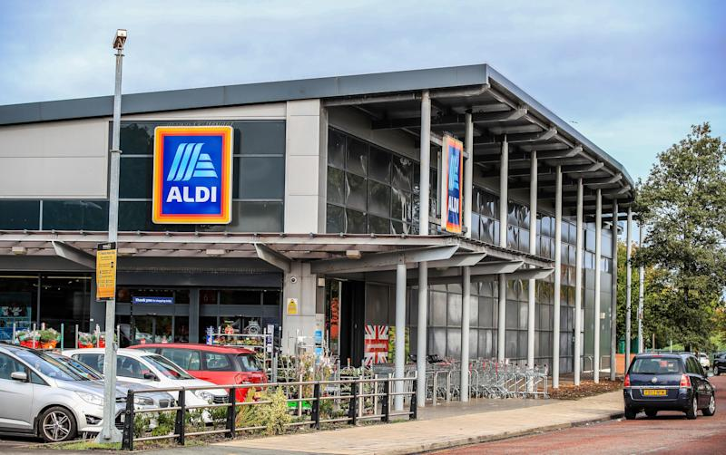 Aldi said sales were up 10 per cent this year, an improvement on 8 per cent growth in 2019 (PA)