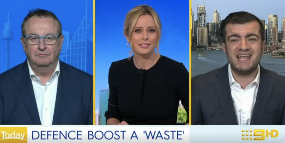 Sam Dastyari, who was on the Today show, didn't hold back when discussing the government's new Defence funding.