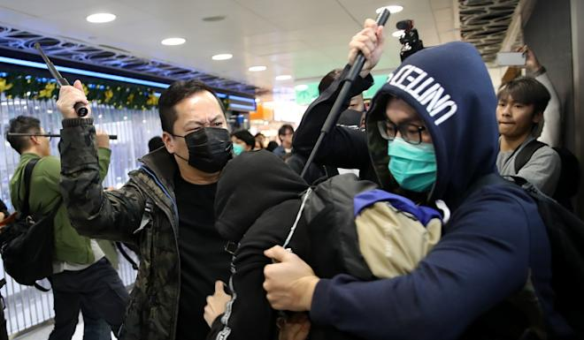 Police and protesters clash in Hong Kong over the Christmas holiday. Photo: Winson Wong