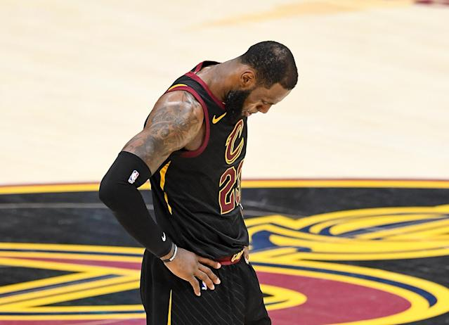 LeBron James did all he could for the Cavs, but it wasn't enough to stop the Warriors. (Getty)