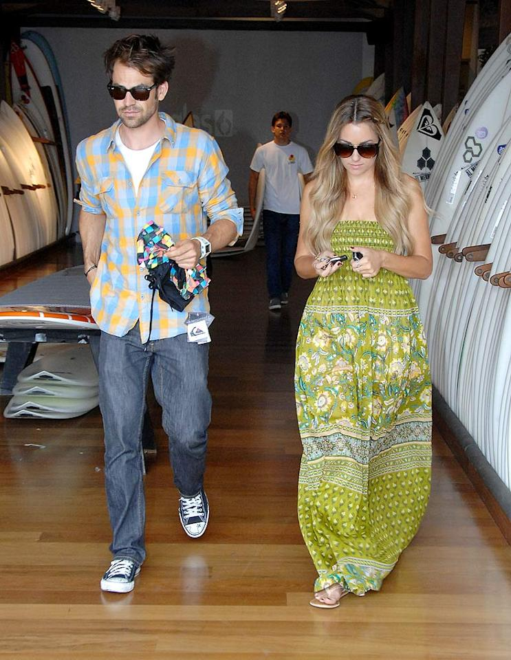 "While shopping on Melrose Avenue in West Hollywood, Lauren Conrad treats her beau, Kyle Howard, to a fresh pair of board shorts. King Paparazzi/<a href=""http://www.splashnewsonline.com"" target=""new"">Splash News</a> - May 30, 2009"