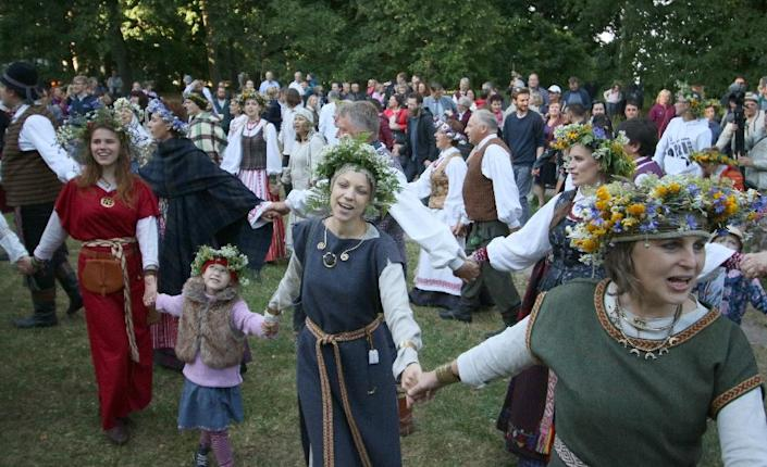 Romuva, Lithuania's neo-pagan tradition, has attracted thousands of followers since the country broke free from the crumbling Soviet Union in 1990 (AFP Photo/Petras Malukas)