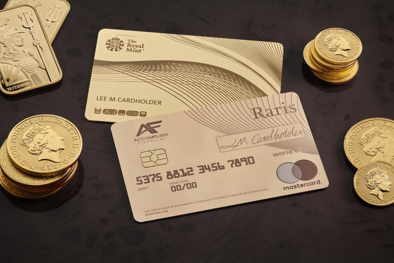 The card is the first made from a hallmarked precious metal. Photo: Royal Mint