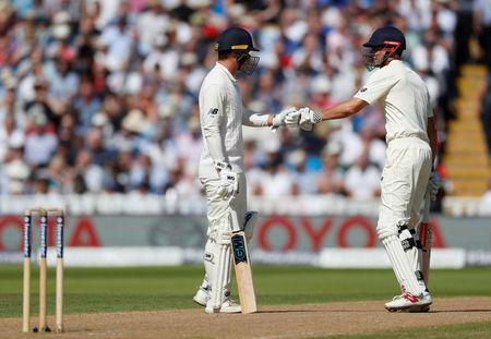 Cricket - England vs West Indies - First Test - Birmingham, Britain - August 17, 2017 England's Tom Westley and Alastair Cook Action Images via Reuters/Paul Childs