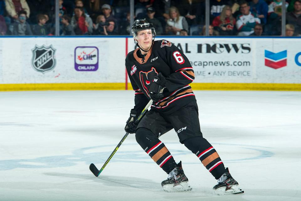 Calgary Hitmen blueliner and Nashville Predators prospect Luke Prokop is the first ever active, openly gay hockey player on an NHL contract. (Getty)