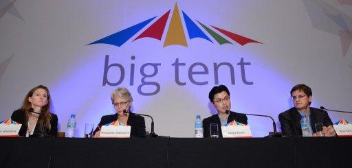 "Roughly 430 participants gathered for the first ""Big Tent"" in Asia, a conference for disaster preparedness and relief"