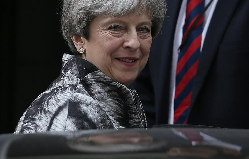 Britain's Prime Minister Theresa May is racing to secure the support of a small Northern Irish party to stay in office as head of a minority government (AFP Photo/Daniel LEAL-OLIVAS)