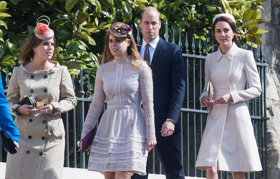 Will the Duke and Duchess of Cambridge choose sisters Princess Eugenie and Princess Beatrice to be godparents? [Photo: Getty]