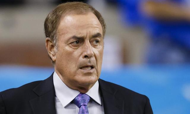 "<span class=""element-image__caption"">Al Michaels has covered multiple World Series, Super Bowls and Olympics. </span> <span class=""element-image__credit"">Photograph: Rick Osentoski/AP</span>"
