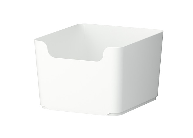 Iryna swears by Pluggis containers to keep everything neat and tidy. Photo: https://m.ikea.com