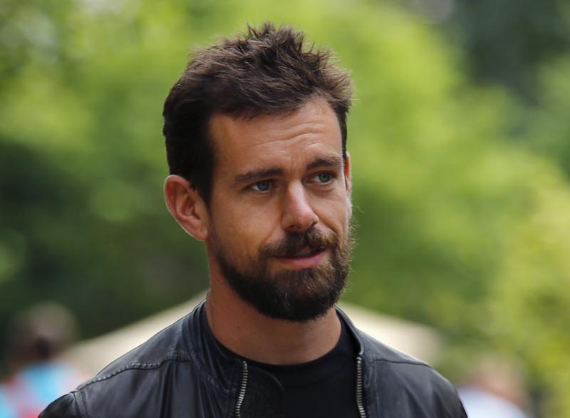 uDorsey, interim CEO of Twitter and CEO of Square, goes for a walk on the first day of the annual Allen and Co. media conference in Sun Valley