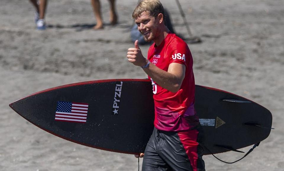 John John Florence reached the third round through the repechage.