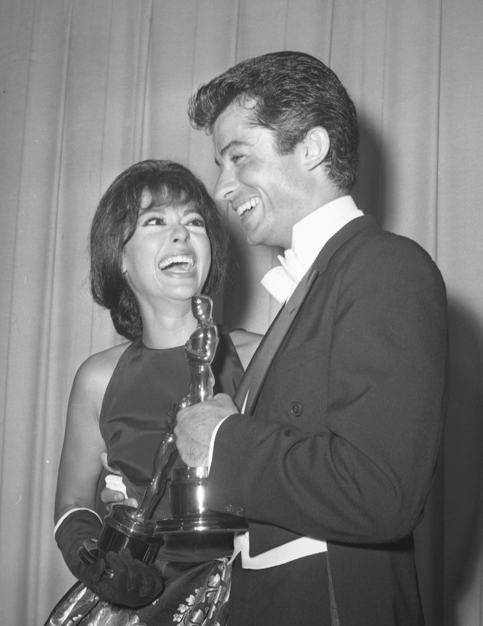 """Rita Moreno won the Oscar for best supporting actress for her role in """"West Side Story"""" in 1962. Co-star George Chakiris took home best supporting actor."""