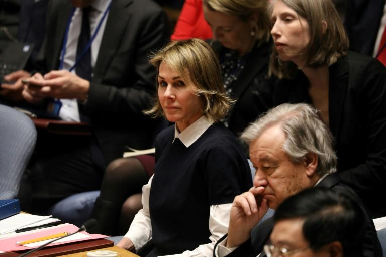"United States ambassador to the UN Kelly Craft (pictured January 2020) said that maintaining cross-border humanitarian aid into Syria is ""the right thing to do"""