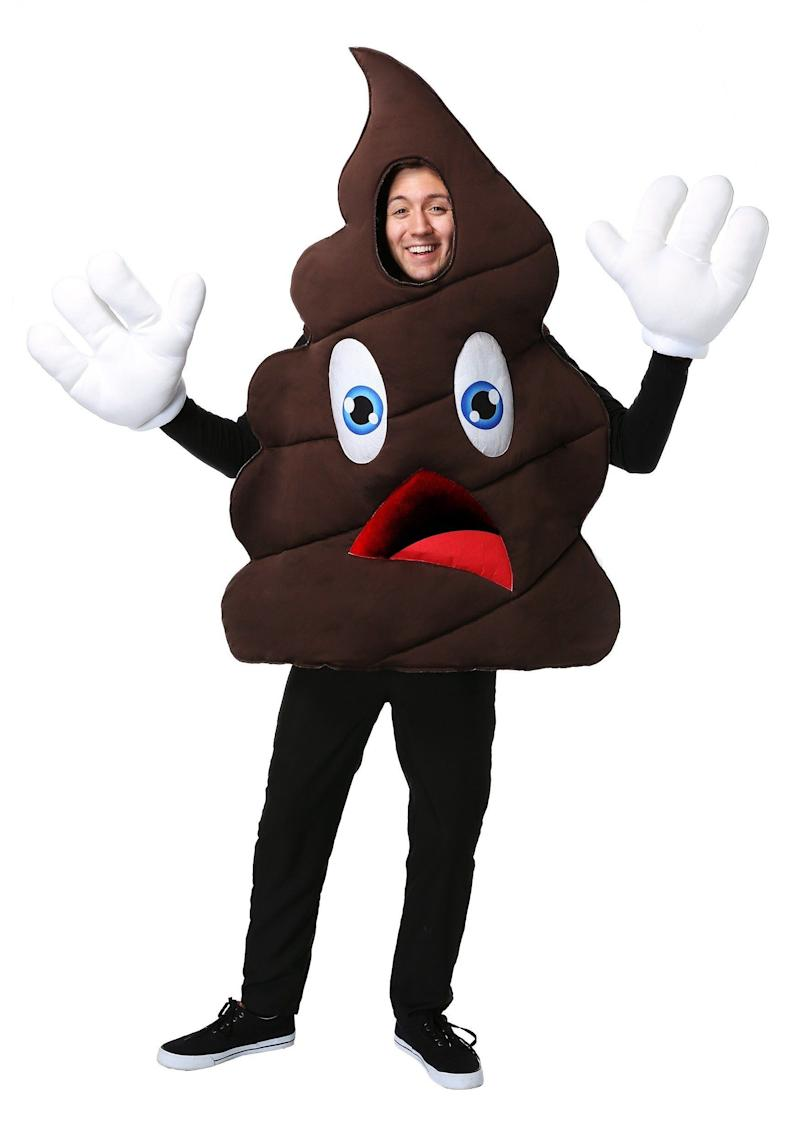 """Sure <a href=""""https://www.halloweencostumes.com/happy-poop-costume.html"""" target=""""_blank"""">this costume is the epitome of crap,</a> but there isn't a person at the Halloween party who won't want to take a selfie withthe person who wears it. Of course, some may not want to stand too close."""