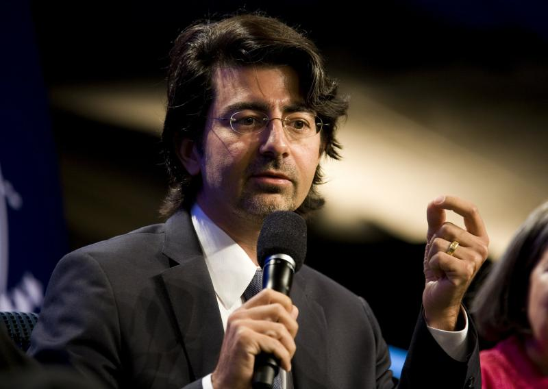 Founder of eBay and creator of First Look Media, Pierre Omidyar, speaks during the panel on September 23, 2010 in New York City (AFP Photo/Brian Harkin)