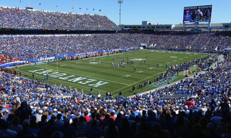 General view of the Kentucky football field.