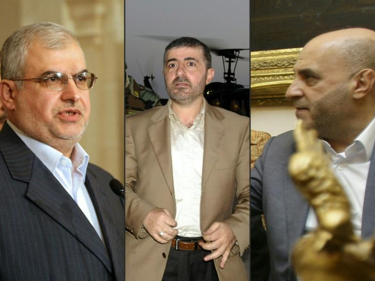 Combo shows Lebanon's Hezbollah MPs Muhammad Hasan Raad (L) and Amin Sherri (R) ad well as party official Wafiq Safa (C) (AFP Photo/HASSAN IBRAHIM, Anwar AMRO, Joseph BARRAK)