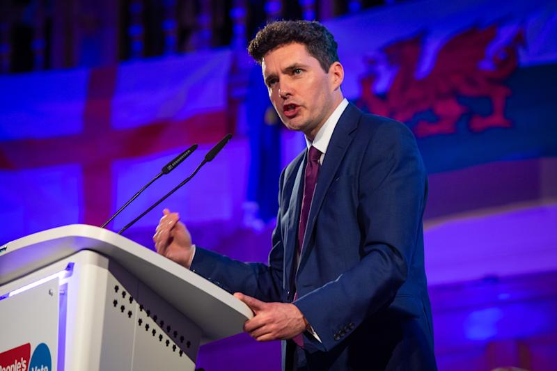 Huw Merriman speaking at a People's Vote Rally in Assembly Hall, London. Picture date: Tuesday April 9, 2019. Photo credit should read: Matt Crossick/Empics
