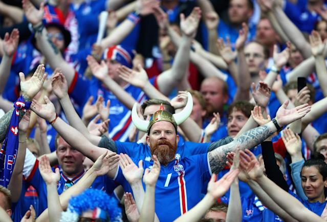 Iceland fans were the real stars of Euro 2016, the island nation's first-ever major tournament. (Getty)
