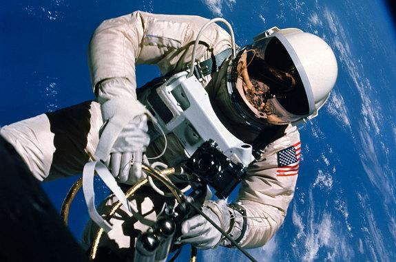 Astronaut Edward H. White II performed the first American spacewalk during the Gemini 4 mission on June 3, 1965.