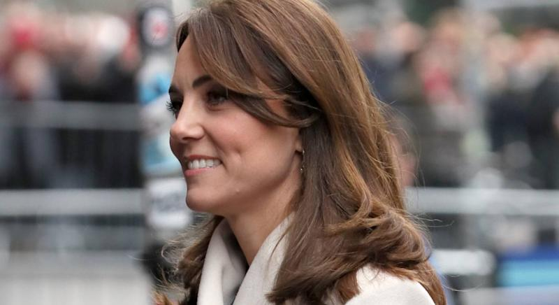 Duchess of Cambridge, pictured in Dublin on 4 March, in a Reiss visit to Jigsaw. (PA)
