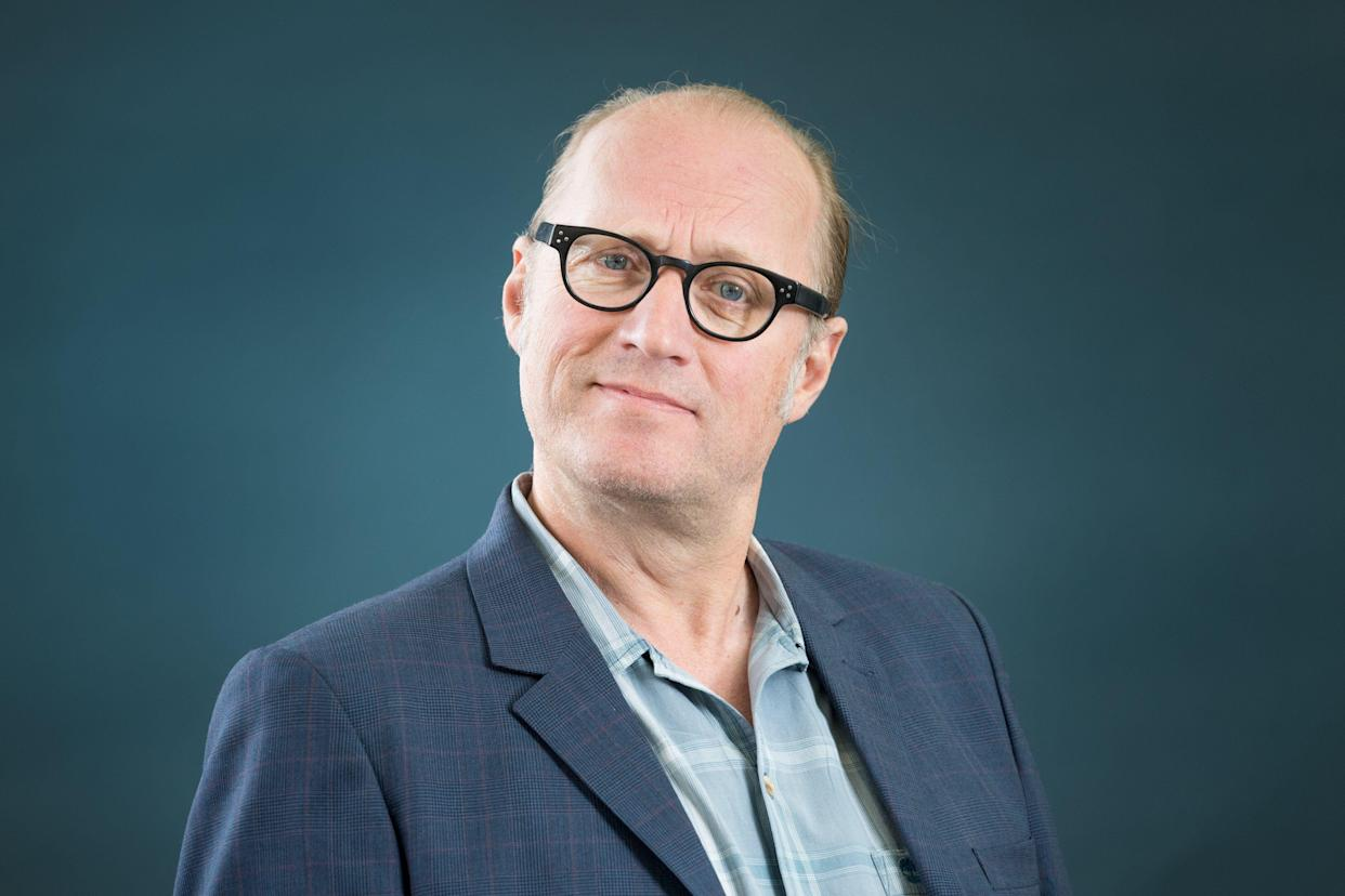 EDINBURGH, SCOTLAND - AUGUST 13:  English comedian, actor, writer, musician, television presenter and director Ade Edmondson attends a photocall during the annual Edinburgh International Book Festival at Charlotte Square Gardens on August 13, 2017 in Edinburgh, Scotland.  (Photo by Roberto Ricciuti/Getty Images)