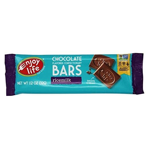 """<p>When you've got a craving for milk chocolate, reach for these <a href=""""https://www.popsugar.com/buy/Enjoy-Life-Bars-480100?p_name=Enjoy%20Life%20Bars&retailer=amazon.com&pid=480100&price=29&evar1=fit%3Aus&evar9=46499879&evar98=https%3A%2F%2Fwww.popsugar.com%2Ffitness%2Fphoto-gallery%2F46499879%2Fimage%2F46499933%2FEnjoy-Life-Chocolate-Bar&list1=chocolate%2Chealthy%20living%2Cdairy-free&prop13=api&pdata=1"""" rel=""""nofollow"""" data-shoppable-link=""""1"""" target=""""_blank"""" class=""""ga-track"""" data-ga-category=""""Related"""" data-ga-label=""""https://www.amazon.com/Enjoy-Life-Foods-Ricemilk-Chocolate/dp/B00B6A6MEQ/ref=sr_1_4?keywords=enjoy+life+chocolate+bars&amp;qid=1565809872&amp;s=gateway&amp;sr=8-4"""" data-ga-action=""""In-Line Links"""">Enjoy Life Bars</a> ($29 for 12). Paired with a marshmallow and graham crackers, a dairy-free s'more has never tasted better.</p>"""